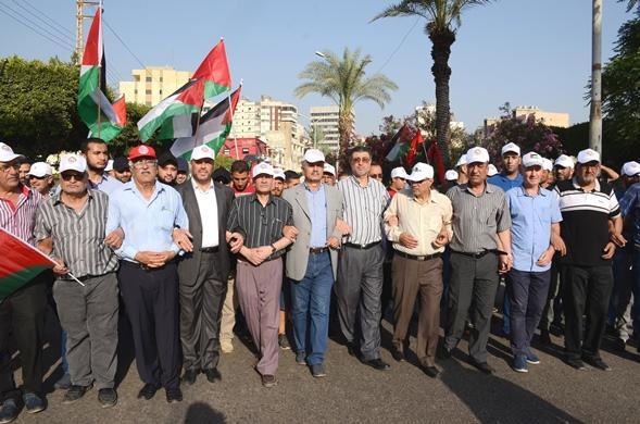 جبهة النضال تشارك في مسيرة ومهرجان يوم القدس العالمي في بيروت