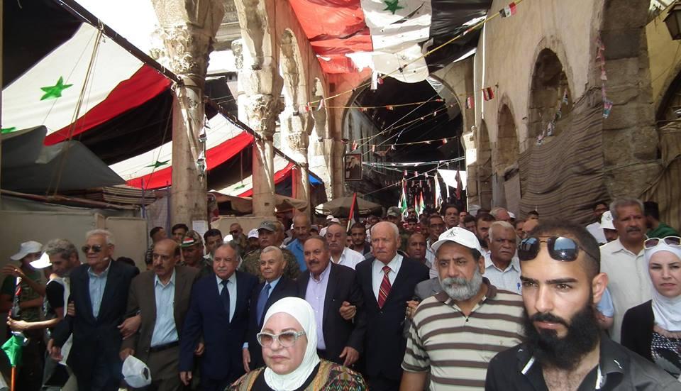 مسيرة حاشدة إحياء ليوم القدس العالمي بالعاصمة دمشق