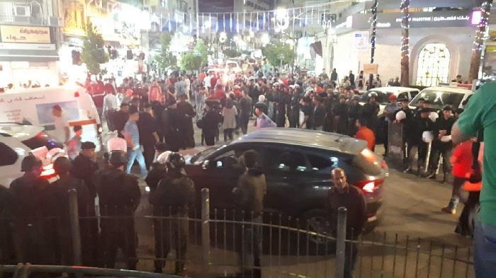 الاجهزة الامنية تفرق تظاهرة احجاجية وسط رام الله
