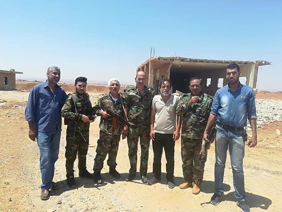 كوادر ومقاتلي جبهةالنضال في معسكر الانطلاقة بدرعا