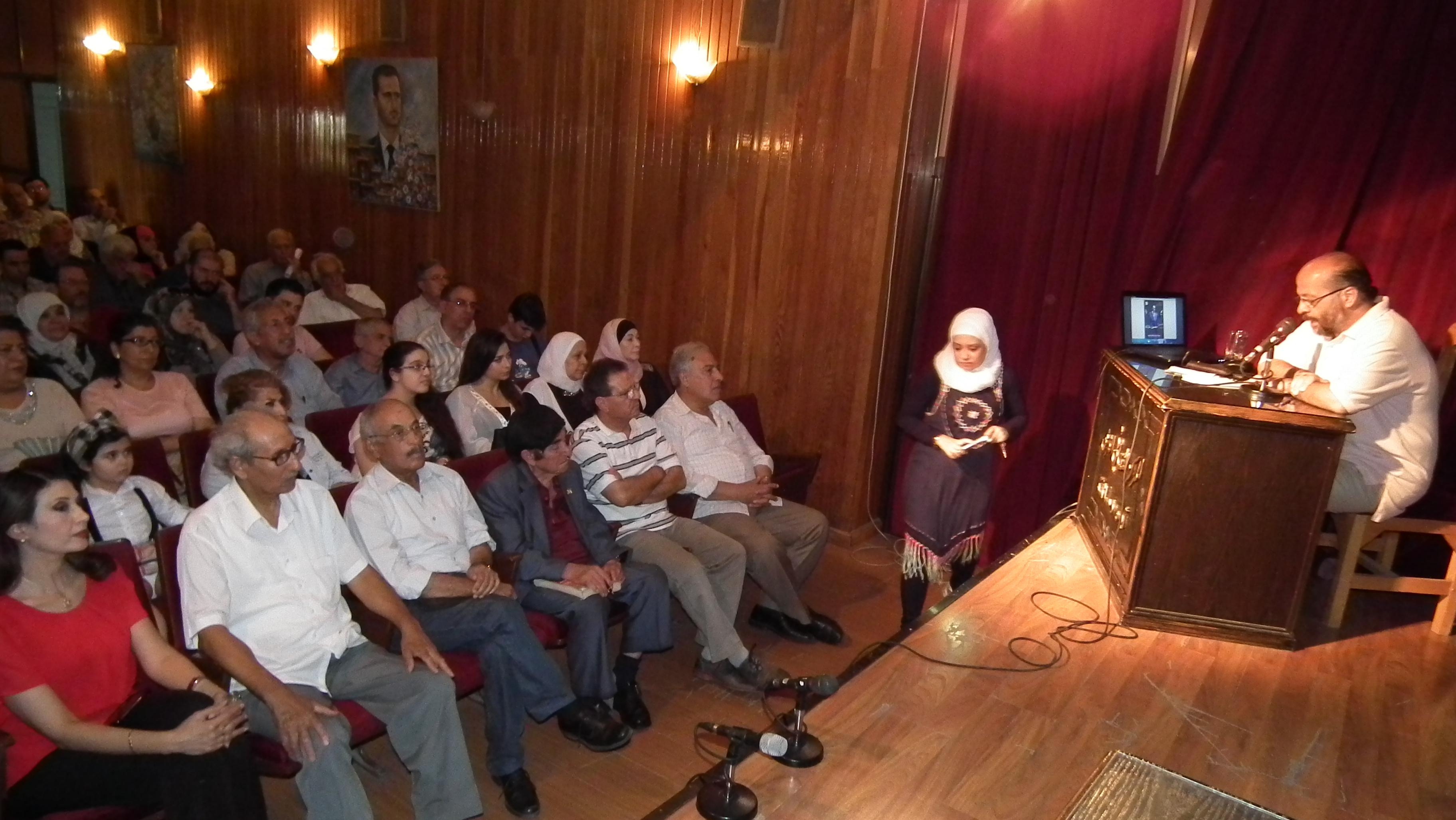 الموسيقار حسين نازك مكرما في ثقافي أبو رمانة بدمشق