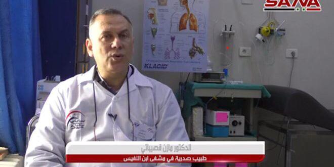 قصيباتي:لا تفشي للوباء في سوريا وأي إصابة فيروسية في بداية الصيف ونهاية الربيع