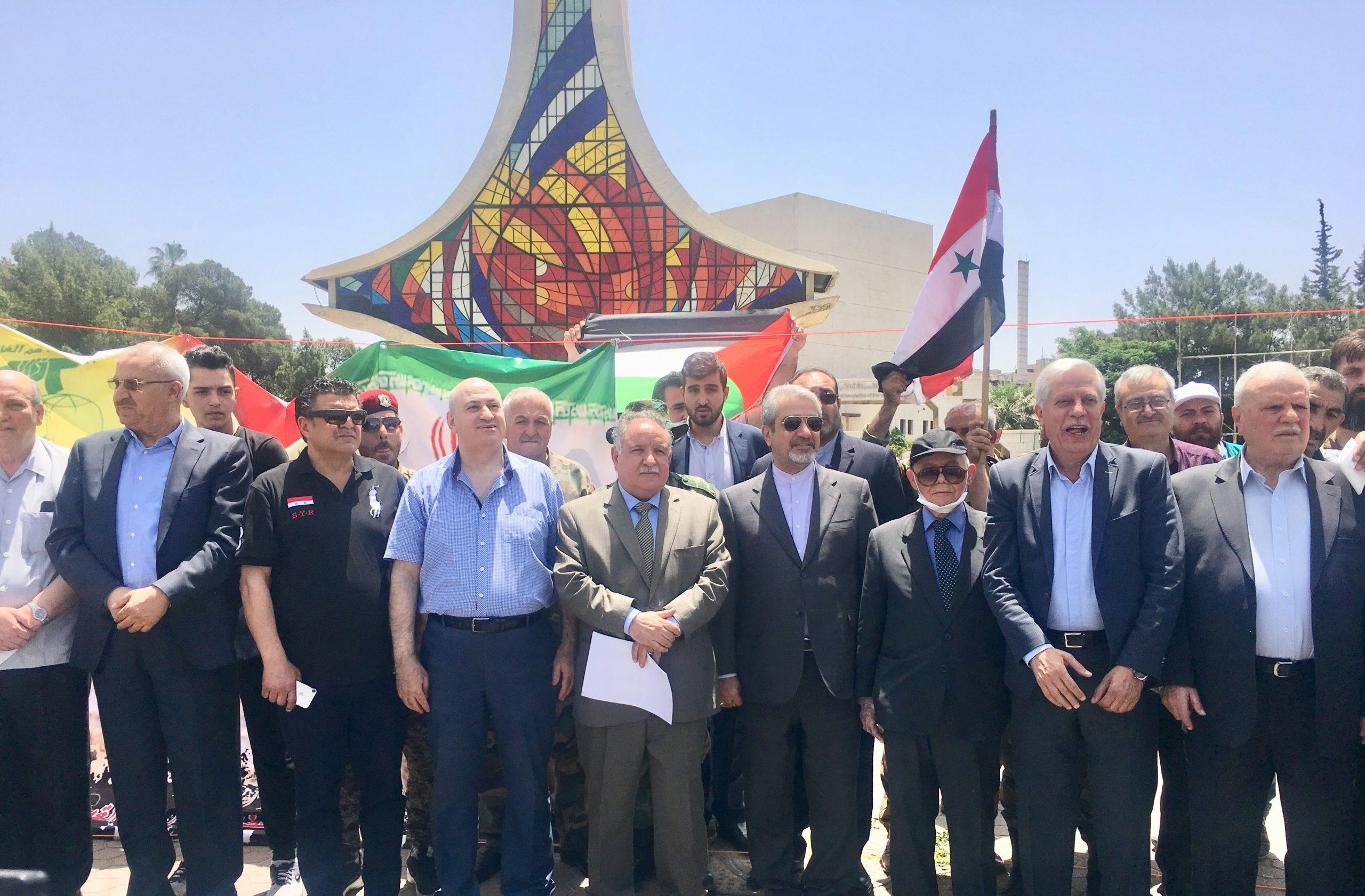 مسيرة سيارات بدمشق إحياء ليوم القدس العالمي… المشاركون: القدس ستبقى مدينة عربية الهوية فلسطينية