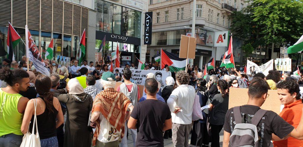 مؤسسات نمساوية و فلسطينية تنظم وقفة حاشدة وسط العاصمة فيينا رفضاً لقرار الضم الإسرائيلي ودعماً للحق الفلسطيني