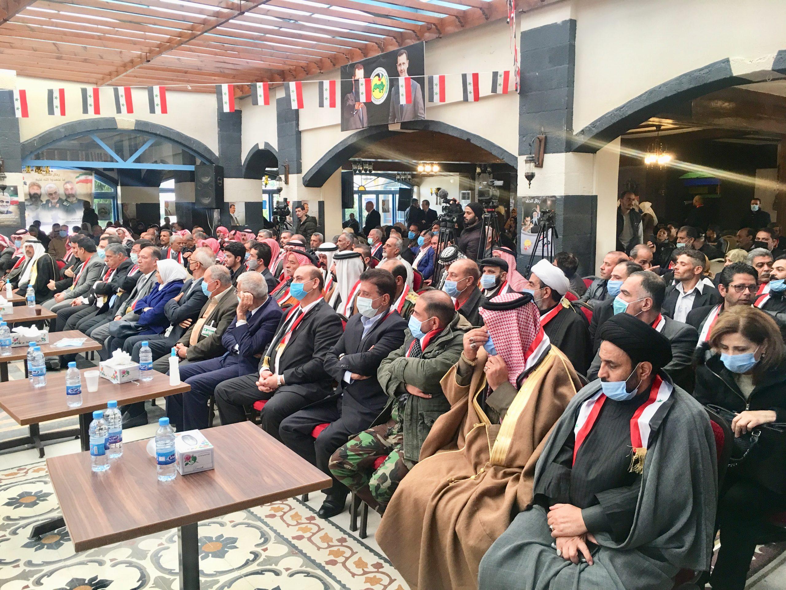 حفل تأبين للشهيدين القائد قاسم سليماني وأبو مهدي المهندس في ريف دمشق