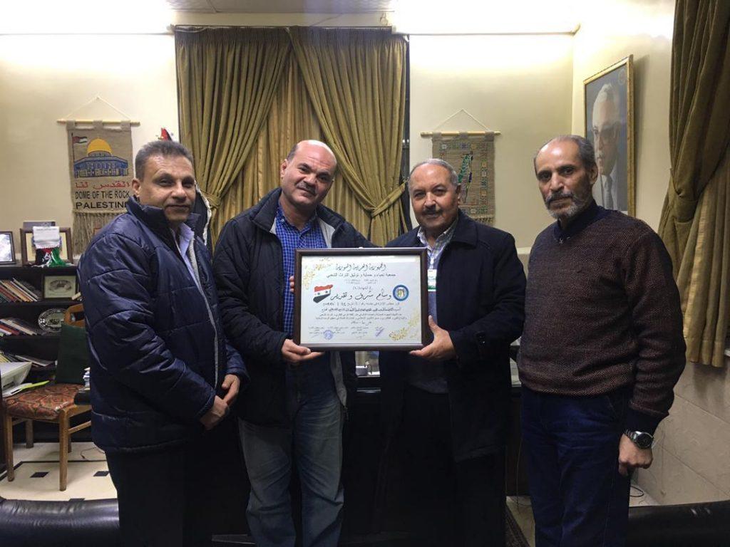 عبد المجيد يستقبل رئيس جمعية إحياء وحماية وتوثيق التراث الشعبي