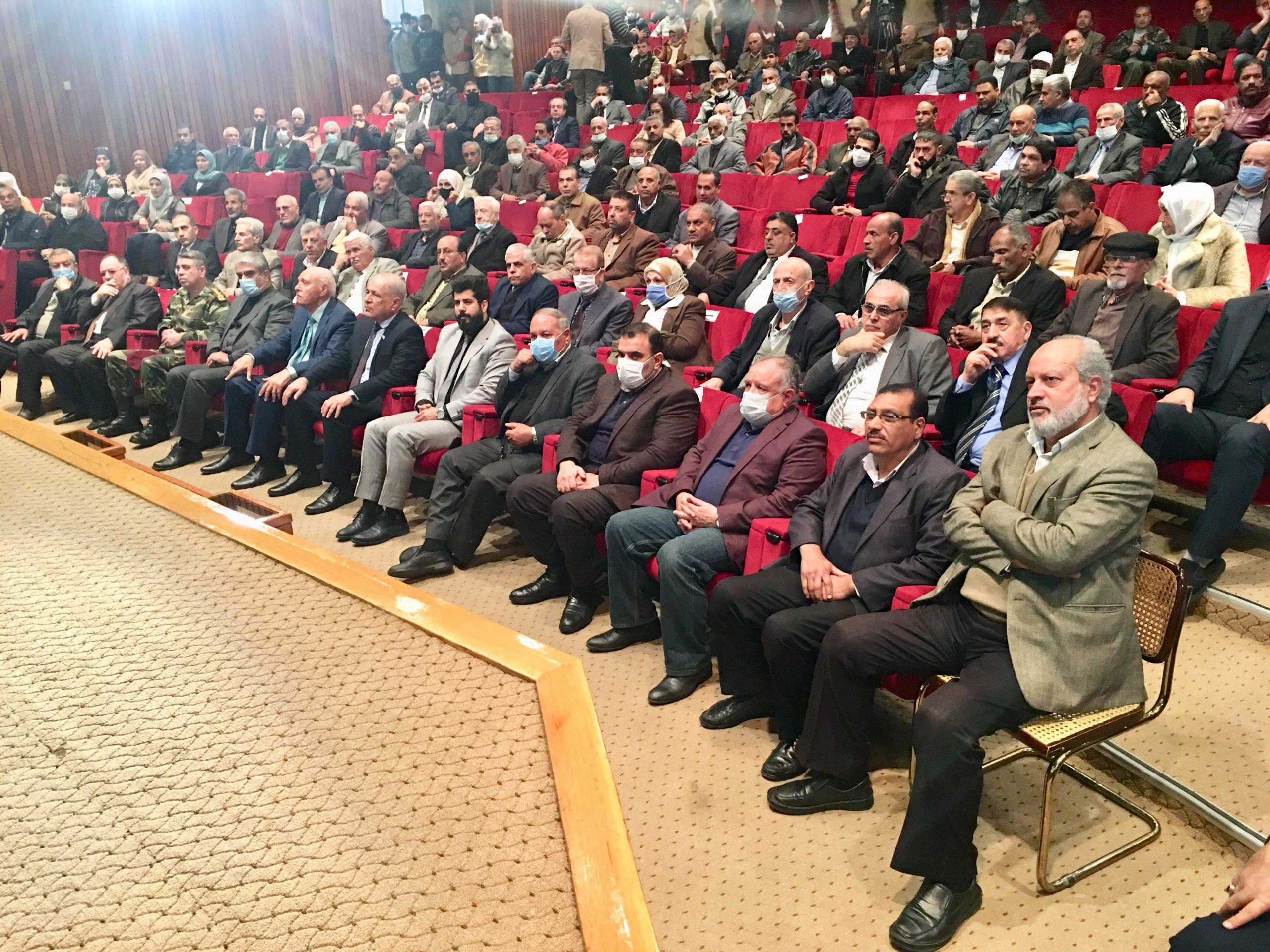 مهرجان خطابي في الذكرى ال42لانتصار الثورة الاسلامية الايرانية بمكتبة الأسد الوطنية في دمشق