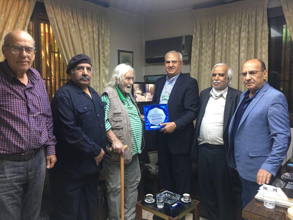 وفد من اتحاد الكتاب والأدباء الفلسطينين يكرم الدكتور طلال ناجي الأمين العام المساعد للجبهة الشعبية لتحرير فلسطين - القيادة العامة.